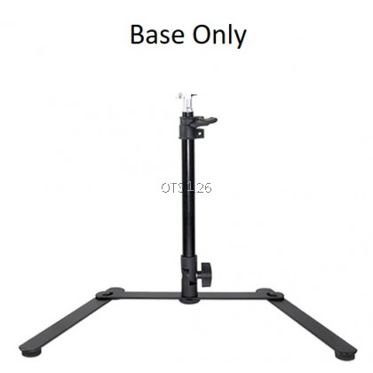 Flat Lay Desktop Tripod Tabletop Shooting Stand with 26/33cm LED Ring Light for Photography Selfie