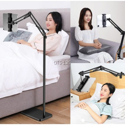 Floor Stand Lazy Bracket Phone Tablet Holder With Adjustable 360° Rotating Flexible Stand